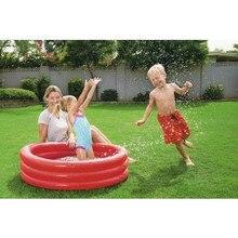 Детский надувной бассейн Bestway 51024, 102х25см, 101л красный