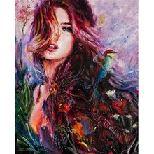DIY Digital Acrylic Oil Painting Abstract Character Pictures By Numbers Hand Painted Canvas Paintings Wall Art