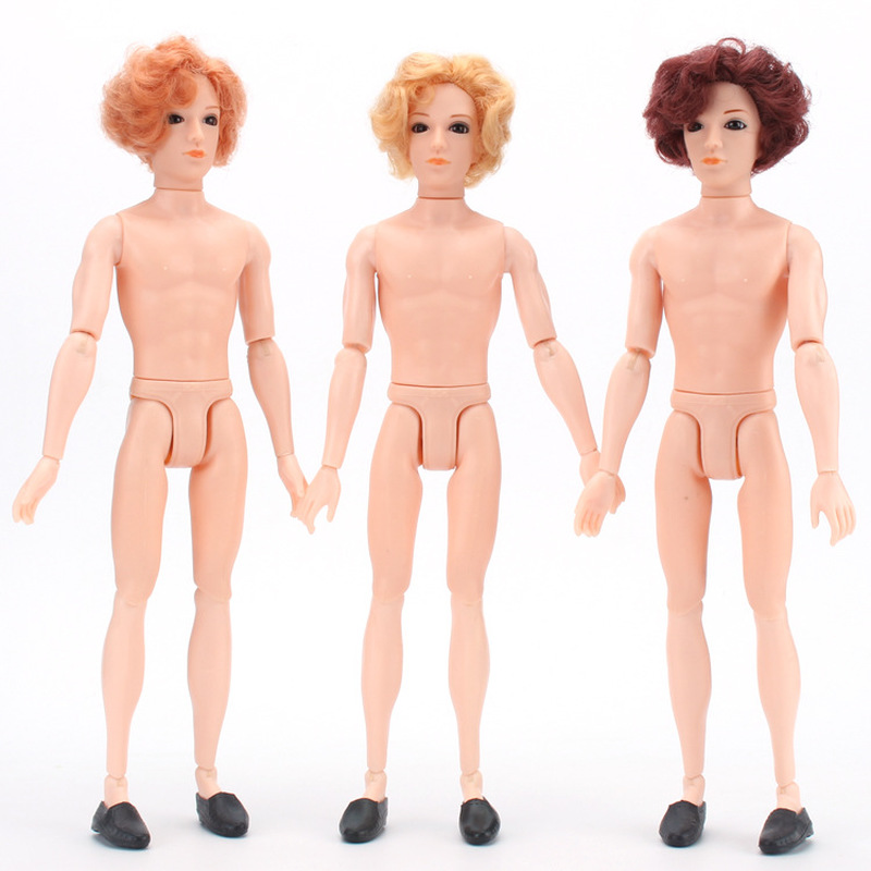 30cm Man Bjd Doll 3D True Eyes 14 Jointed Boy Male Naked Body Boyfriend Prince Nude DIY Learning,Toys for Children