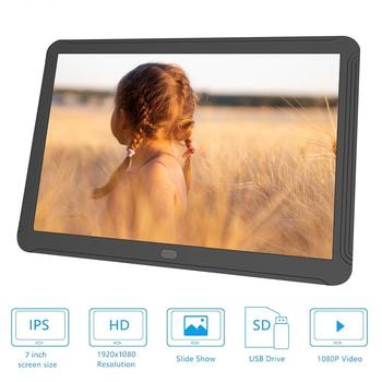 7 Inch Screen LED Backlight HD 1080 Digital Photo Frame Electronic Album Picture Music Movie Full Function Good Gift