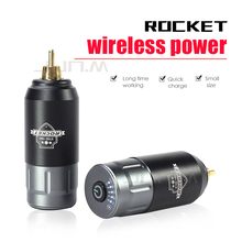 New Rocket Tattoo Mini Wireless Power For Tattoo Rotary Machine Pen RCA Connection Tattoo Power Supply new tattoo book on emily tattoo supply for tattoo a4 size