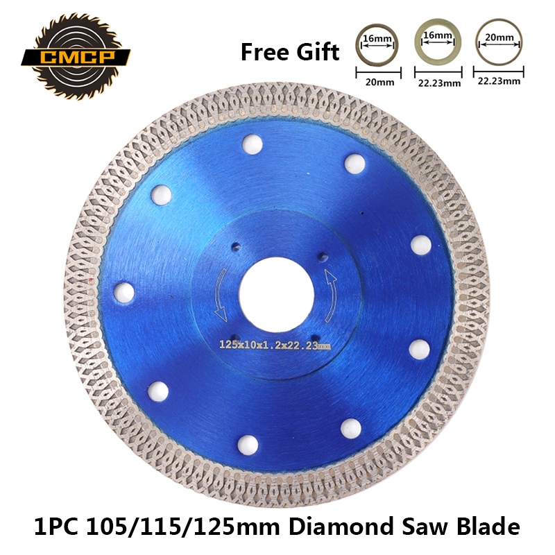 1pc 105/115/125mm Diamond Saw Blade For Angle Grinder Diamond Disc For Cutting Ceramics Porcelain Tiles Diamond Cutting Disc