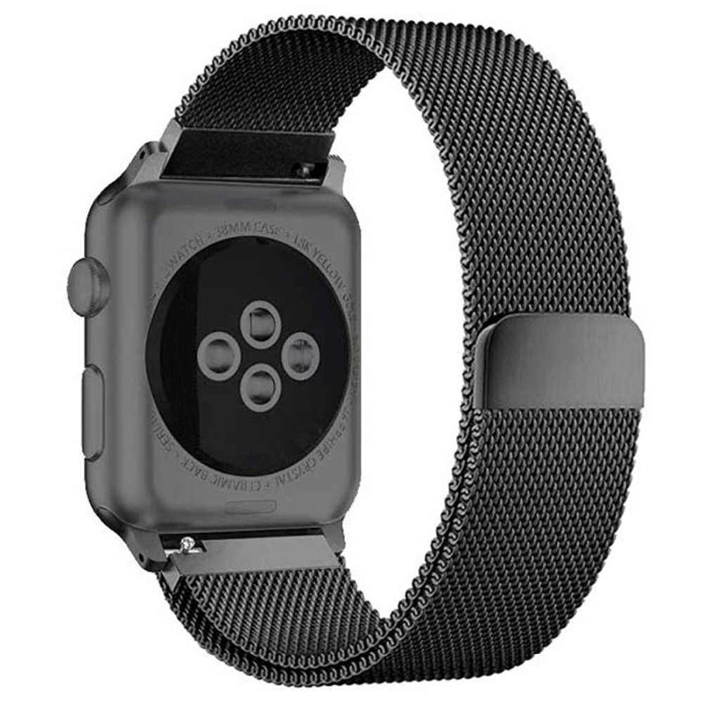 Milanese Loop Band untuk Apple Watch Tali 44 Mm 40 Mm IWatch Band 42 Mm 38 Mm Stainless Steel Gelang Jam gelang Apple Watch 5 4 3 2