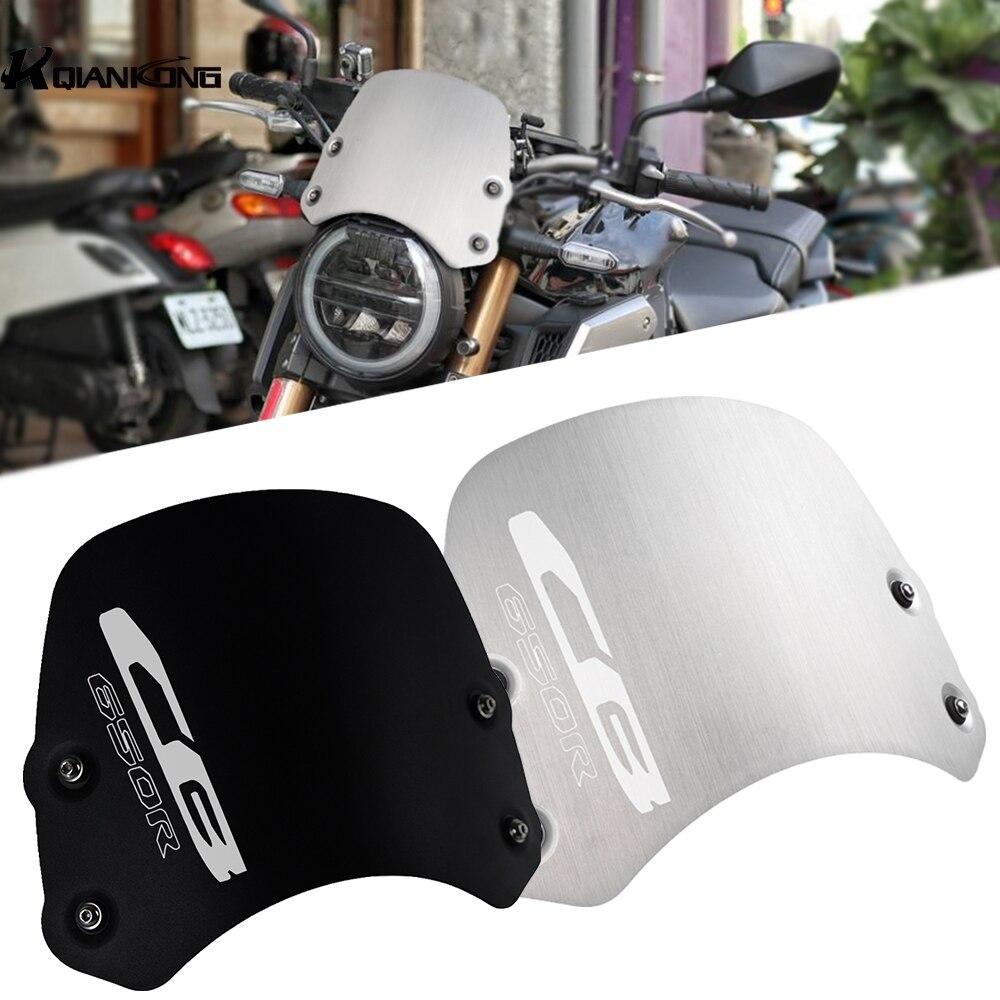 FOR HONDA CB 650R CB650R Neo Sports Cafe 2019 2020 Motorcycle Accessories CNC Aluminum CB650R  Windshield Windscreen Deflectors
