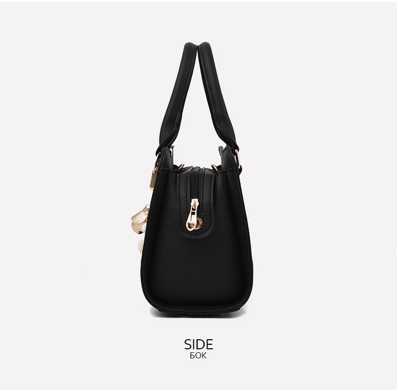 Designer Brand Bags Ladies Leather Tote Bag 2020 Luxury Ladies Handbag Wallet Fashion Shoulder Bag 11