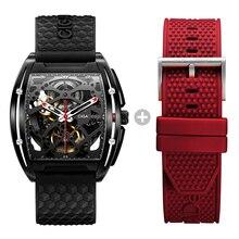 Ciga Ontwerp Mechanische Horloge Heren Horloges Top Merk Dlc Techniek Waterdichte Klok Business Man Horloge Spare Siliconen Band
