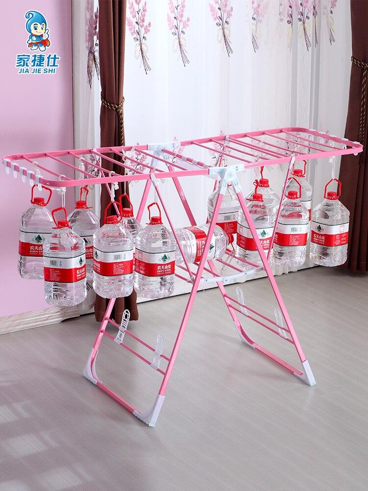 Multi función de secado de la ropa Rack bien Rack secado de ropa Simple edredón bebé pañal Rack - 3