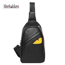 Chest Bags For Men & Women 2019 Fashion Brand Girl Eyes Monster Crossbody Bag Boys Waterproof Sling USB Charging Shoulder