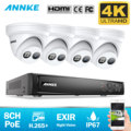 ANNKE 8CH 4K Ultra HD POE Netwerk Video Security System 8MP H.265 + NVR Met 4X8 MP 30m EXIR Nachtzicht Weerbestendige IP Camera