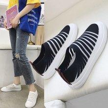 Liren 2019 Summer Casual Women Slip-on Flat Heels Women Vulcanize Shoes Comfortable Breathable Women Sport Shoes Size 35-40