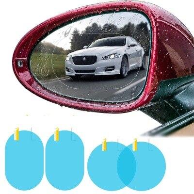 2 pièces/ensemble étanche à la pluie voiture accessoires voiture miroir fenêtre Film transparent Membrane Anti buée Anti éblouissement étanche autocollant conduite sécurité  