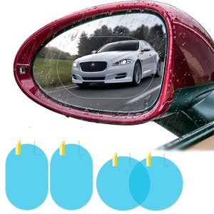 2Pcs/set Rainproof Car Accessories Car Mirror Window Clear Film Membrane Anti Fog Anti-glare Waterproof Sticker Driving Safety