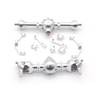 Orlandoo Hunter 1/35 Silver MA2 550 Full Metal Front And Rear Axle Bridge Set With Screws