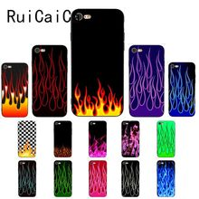 Ruicaica Cartoon fire flame fashion Luxury Unique Design Phone Case for iPhone 5 5Sx 6 7 7plus 8 8Plus X XS MAX XR 10 Cover
