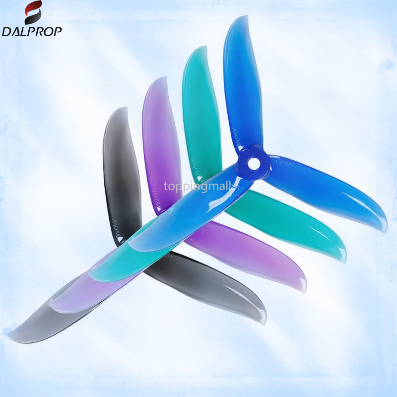 16pc Dalprop CYCLONE <font><b>T5047C</b></font> T5047 <font><b>Pro</b></font> 5047 5inch 3 Blade/tri-Blade Propeller Prop Compatible POPO System for FPV Drone image
