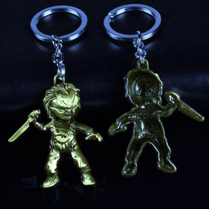Image 3 - 10pcs/lot Fashion Jewelry Key Ring Horror Movie Seed of Chucky Keychain Figure Cosplay Pendant Key Chain Car Key Chains For Men