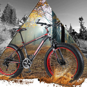Image 5 - CASDONA bicycle mountain bike fat bikes Bicycle Accessories Bicycles aluminum alloy wheel 26 inch  snow wheel size cm wide side