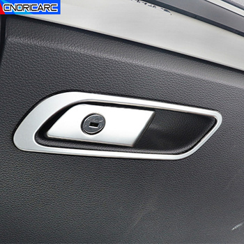 Copilot Glove Box Frame Decoration Decals Car Styling For Audi Q5 FY 2018 2019 LHD Stainless Steel Interior Accessories image