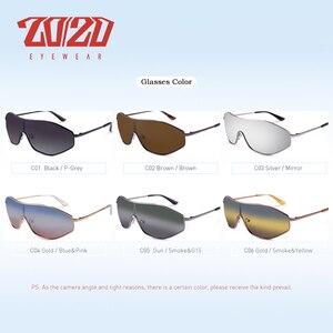 Image 2 - Lunettes de soleil polarisées en alliage Vintage pour hommes et femmes, lentille surdimensionnée dégradé, Design AK17157, 20/20 nouveauté