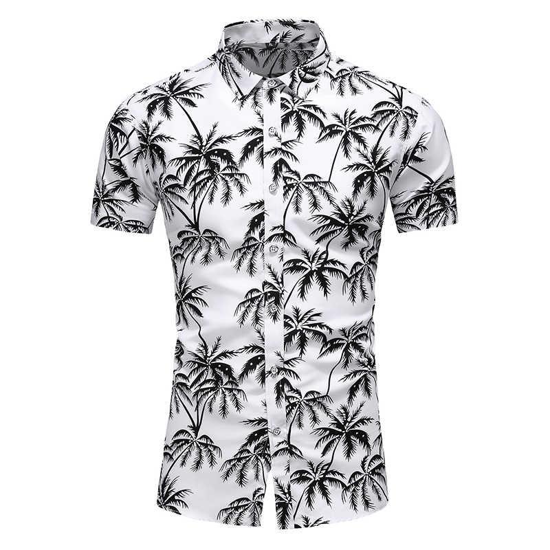 2020 UNS Neue Hawaiian Shirt Herren Blume Strand Aloha Party Casual Urlaub Kurzarm