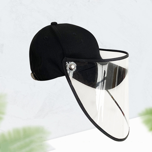 Anti Flu Protective Cap Mask Eye Protection Baseball Cap Unisex Removable Oil-Splash Proof Anti-saliva Face Cover 3