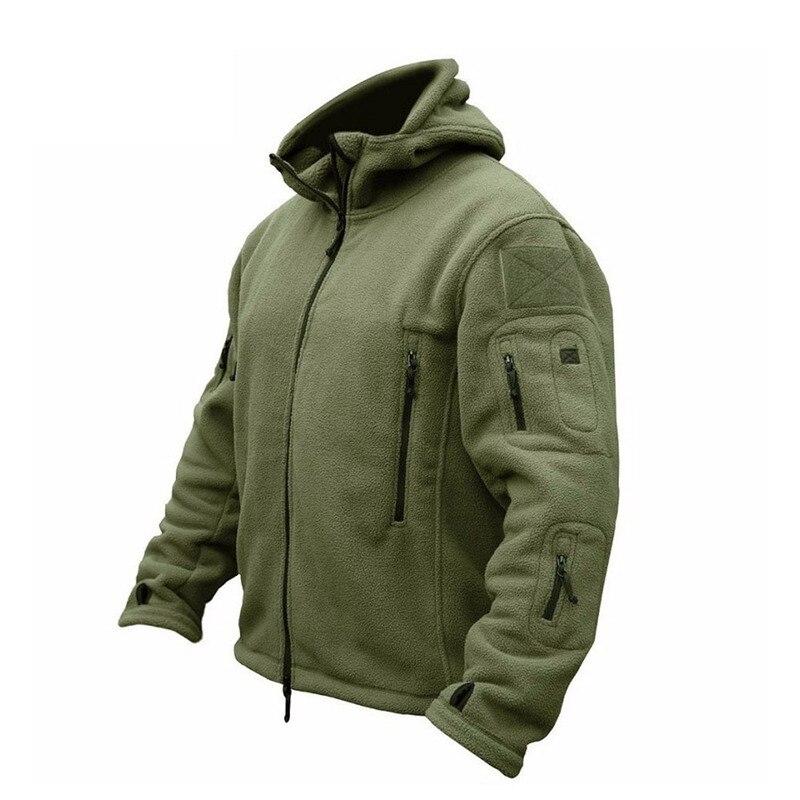 ZOGAA Men Military Bomber Jacket Coat Fleece Tactical Overcoat Male Outdoor Hooded Zipper Solid Loose Outwear Mens Jackets Coats