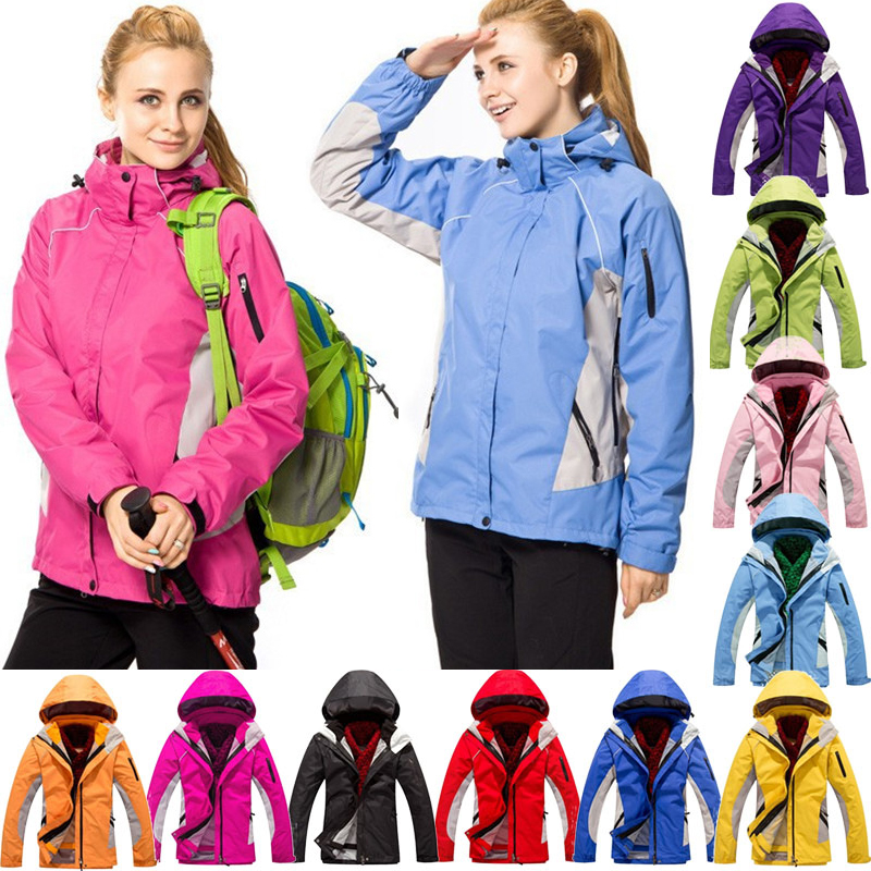 Super Warm Wind Winter Woman Ski Mountaineering Camping Hiking Piece Suit Jacket Outdoor Sports Large Size S-XXXL Skiing Jackets