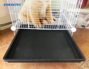 Image 5 - הכלוב עבור לחיות מחמד עבור כלב הולם עבור חתול שתן קערת לול כלוב מוצרים אבטחת שער עבור ארנב עם גלגלים