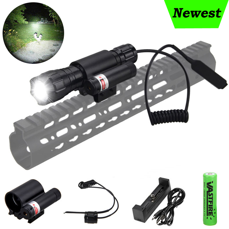 Military Airsoft Guns Light XM-L T6 5000 Lumens Led Tactical Hunting Flashlight Rifle Scout Underbarrel Hunting Scout Lamp