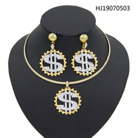 Yulaili 2019 Wholesale New Unique Charm Fashion African Jewelry Sets Turkish Women Pendant Necklace Earrings for Party Gift