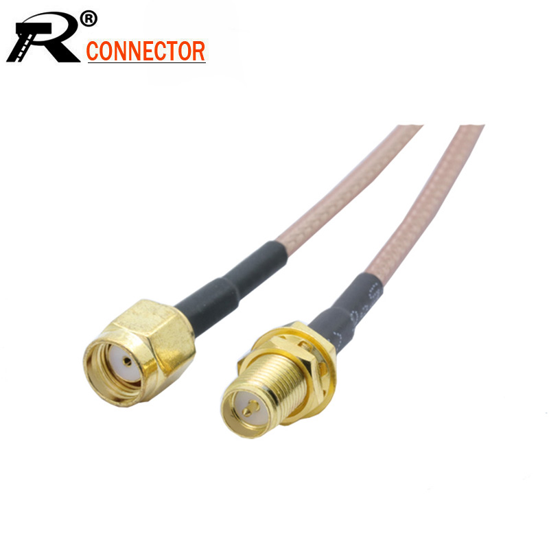 RP SMA Female To RP SMA Male RG316 RF Coaxial Cable RF Coax Jumper Extension Pigtail Cord 5CM 10CM 15CM 20CM 1pcs/lot