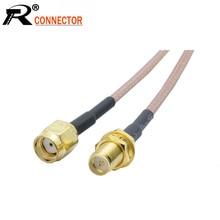 RP SMA Female to RP SMA Male RG316 RF Coaxial Cable RF Coax Jumper Extension Pigtail Cord 5CM 10CM 15CM 20CM 1pcs/lot