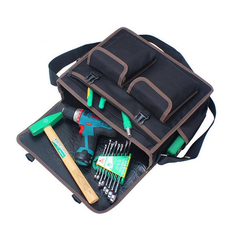 High Capacity 600D Polyester Waterproof Tool Bag Multifunctional Hardware Tool Bag With Adjustable Strap For Repair Tools