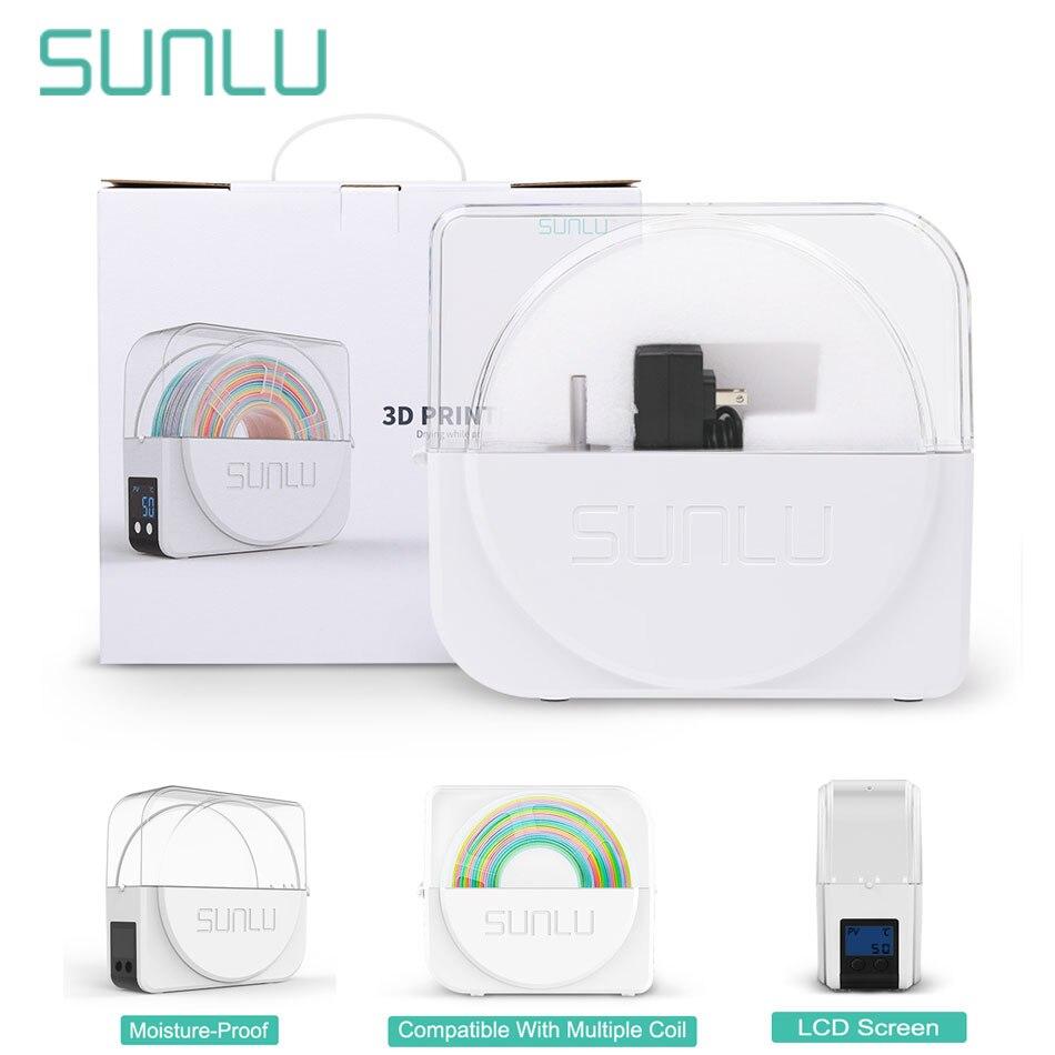 Sunlu 3d filamento secador de caixa com arco-íris de seda filamento 3d 1.75 filadriter s1 3d impressora filamento caixa de armazenamento manter filamentos secos