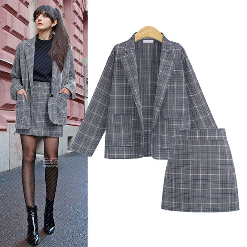 Women Office Uniforms 2019 New Plus Size Women's Suit Skirt Suit Long Sleeve Clothing Female Work Outfits Complete Office Outfit