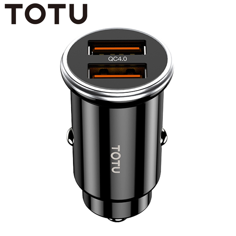 TOTU Quick Charge Dual USB QC 4.0 Car Charger for iPhone Xiaomi Huawei Samsung Sony Mobile Phone Charger In Car