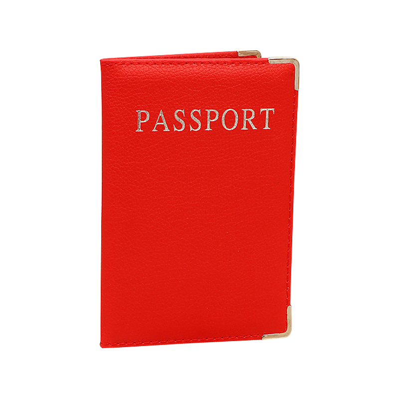 Pure Color PU Leather Passport Covers Travel Accessories ID Bank Credit Card Bag Men Women Passport Business Holder Wallet Case