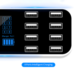 Image 2 - KEBIDU 8 Multi Port Charging Station USB Adapter Car Charger Smart Display Station 40W For iPhone Samsung Xiaomi Huawei 12V 24V