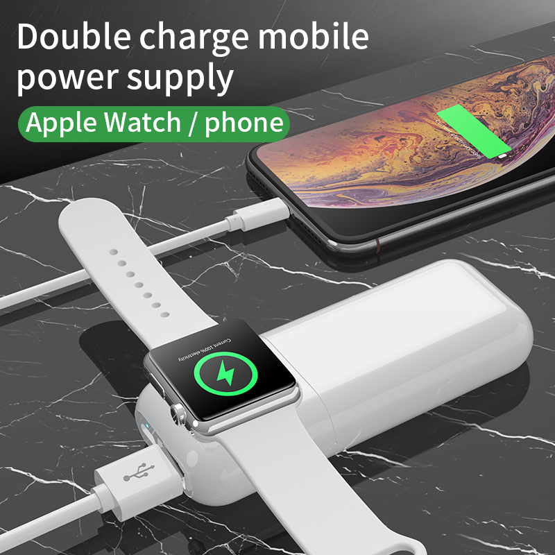 2 in 1 Magnetic Power Bank Wireless Charger for Apple Watch Series 6 SE 5 4 3 2 Fast Charger for iPhone 11 XS XR X 8 7 iWatch