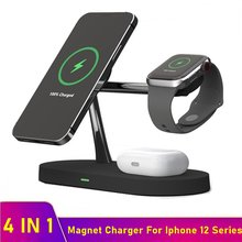 Tongdaytech 15W Magnet Qi Fast Wireless Charger For Iphone 12 Mini Pro MAX Magsafe Charger For Airpods Apple Watch 6 5 4 3 2 1