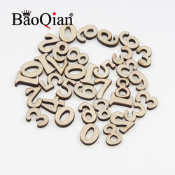 100pcs/lot Natural Wooden Scrapbook 15mm Number Pattern Children's Educational Puzzle Diy Charm Home Decoration Crafts