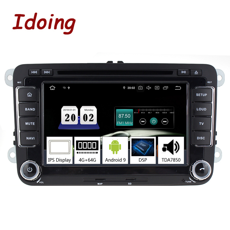 "Idoing 7""2din Car Android 9.0 Radio Player For Volkswagen Touran Passat B6 PX5 4G+64G 8Core IPS screen GPS Navigation Multimedia-in Car Multimedia Player from Automobiles & Motorcycles    1"