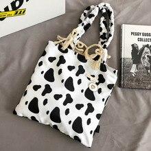 Large Capacity Tote Bags For Women Cow Pattern Casual Ladies Shoulder Bag Handbags Lightweight Waterproof Bolsos Para Mujer