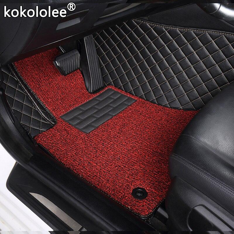 Tapis de sol de voiture sur mesure pour Volkswagen tous les modèles vw passat polo golf tiguan jetta touran touareg EOS tapis de sol auto