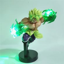 Dragon Ball Z Broly Broli Anime Figure Action Super Broly Led Night Light Figurine Effect Power Esferas Del Toy Doll da collezione