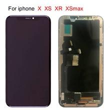 10 pcs dhl lcd grátis para iphone x oled xs xr tft com conjunto de digitalizador de toque 3d sem pixel morto lcd tela de substituição