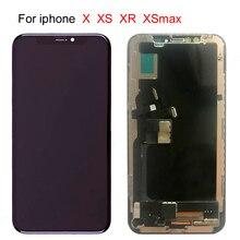 10 sztuk bezpłatne DHL LCD dla iphone X OLED XS XR TFT z 3D dotykowy Digitizer zgromadzenie nie martwy piksel ekran LCD wymiana wyświetlacza