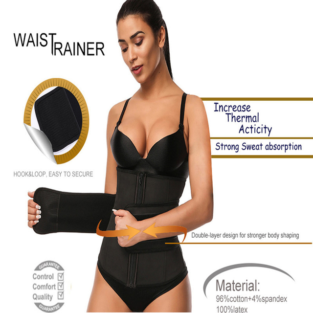 Neoprene Sauna Waist Trainer Corset Sweat Belt for Women Weight Loss Compression Trimmer Workout Fitness Workout Trimmer Belt 7 3