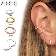 Aide 6 мм/8 мм/10 мм циркон кольца носа серьги ухо ушной хрящ
