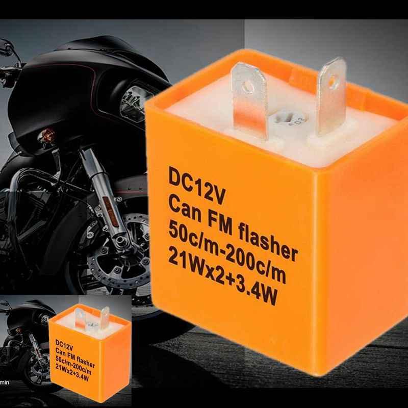 2Pin Xe Máy Led Công Tắc Bật Lửa Tia Plasma LED Tín Hiệu Tốc Độ Điều Chỉnh Rơ Le Điện Tử Thay Thế Winker Flasher Relay Cố Định